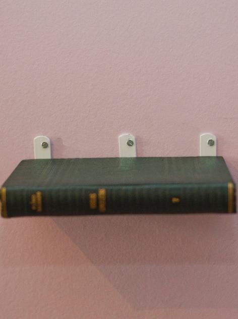 Prateleira livros flutuantes