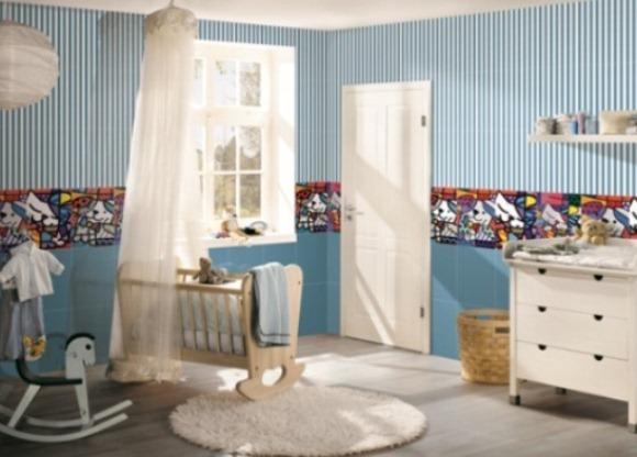 Decore sua casa com a arte de Romero Britto ~ Revestimento Ceramico Para Quarto Infantil
