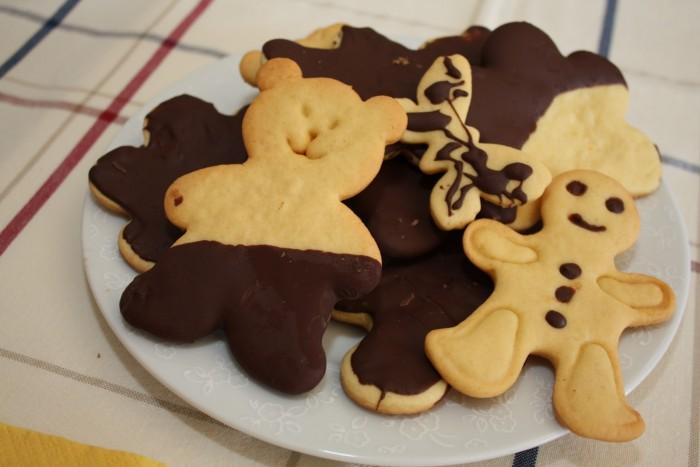 biscoitos cobertos de chocolate
