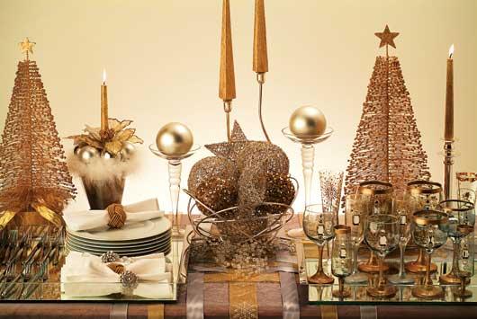 estrela de natal na mesa