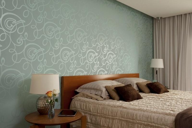 Dicas para usar papel de parede estampado